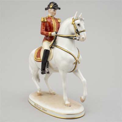Estatua del caballo blanco Lipizzano