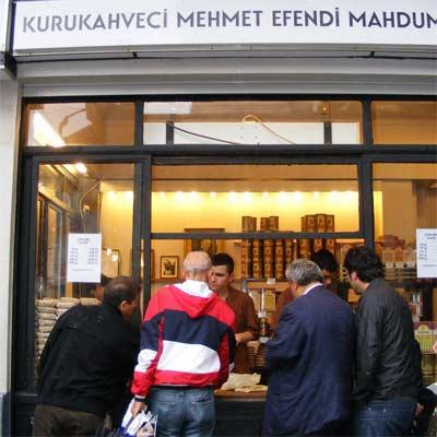 Tienda de café Kurukahveci Mehmet Efendi en Estambul
