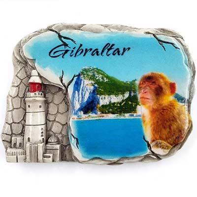 Imán de nevera con temática gibraltareña