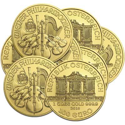 Monedas de oro de la Filarmónica de Viena