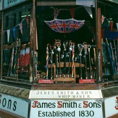 Paraguas del Reino Unido tienda James Smith and Sons