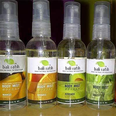 Perfumes de varios olores