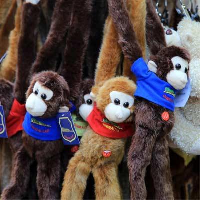 Monos de peluche de típicos de Gibraltar