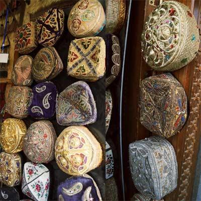 Tubeteika gorro tradicional uzbeko
