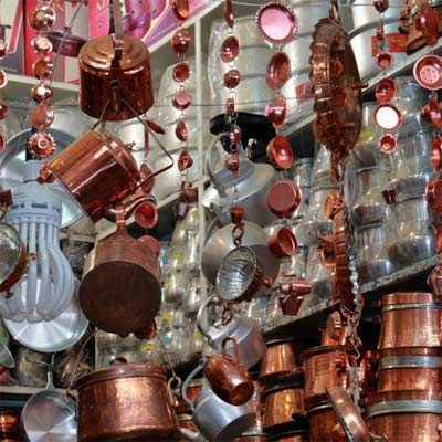 Utensilios de cobre para cocinar